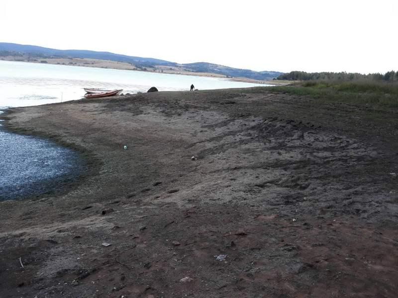 Ugrožen riblji fond na Vlasinskom jezeru, voda se povukla za 5 metara, obala smrdi!