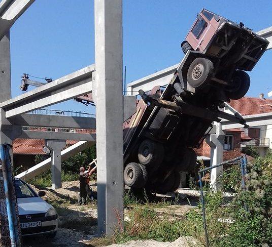 Incident na gradilištu u Leskovcu