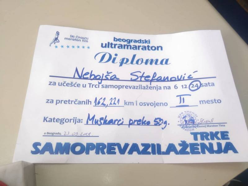 Stefanović ponovo u vrhu takmičenja u ultramaratonu