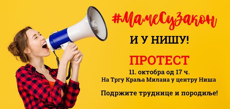 Mame protestuju i u Nišu