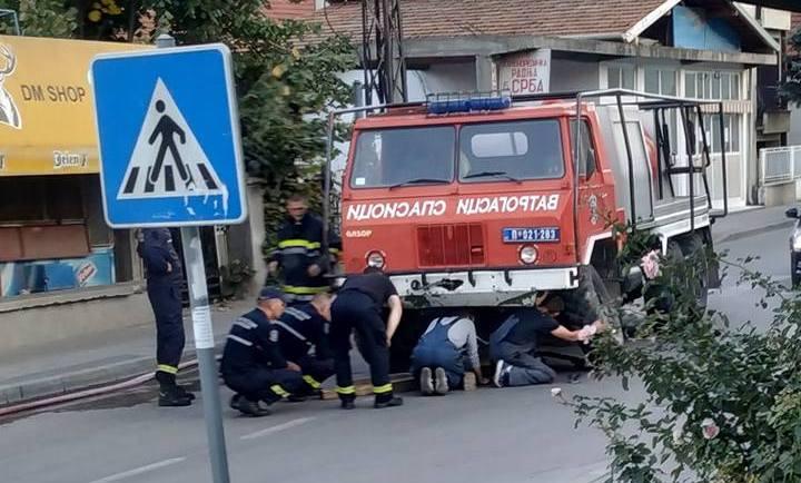 Odvalio se točak na vatrogasnom vozilu, blokiran saobraćaj u Svetoilijskoj