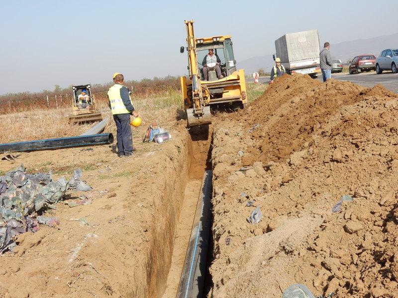 Nastavljena izgradnja glavnog cevovoda od Lipovice do Živkova (VIDEO)