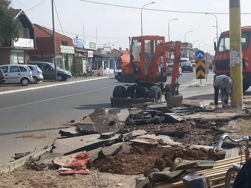 Lidl gradi trotoar u ulici Kralja Petra Prvog