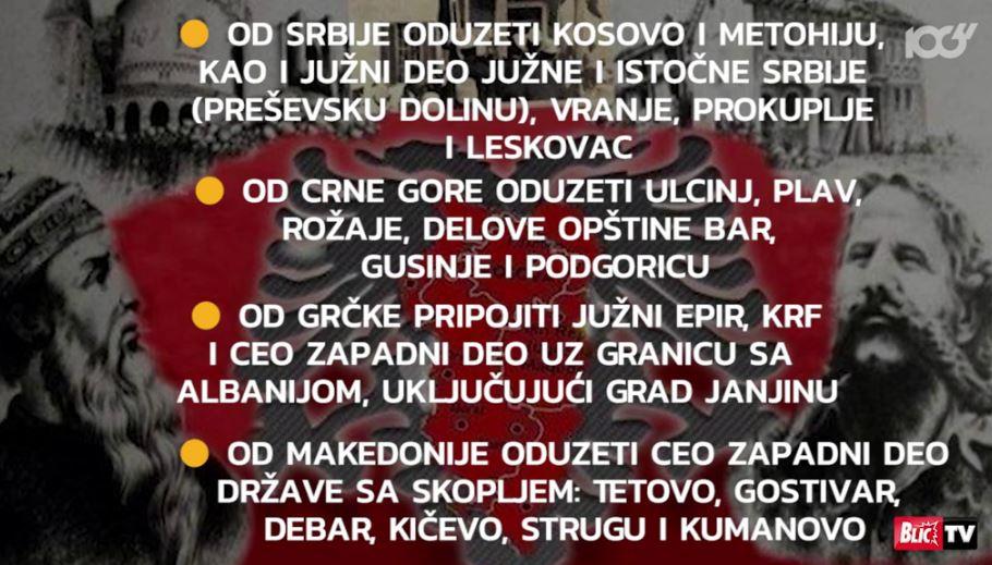Blic: U Velikoj Albaniji i Leskovac, Vranje i Prokuplje