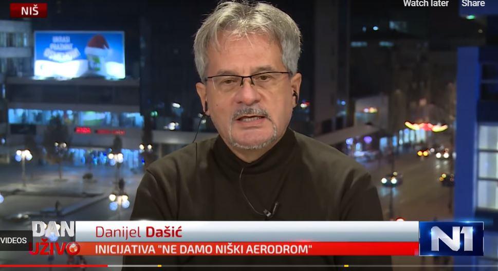 Danijel Dašić: Niški aerdorom ne ugrožava beogradski već prištinski