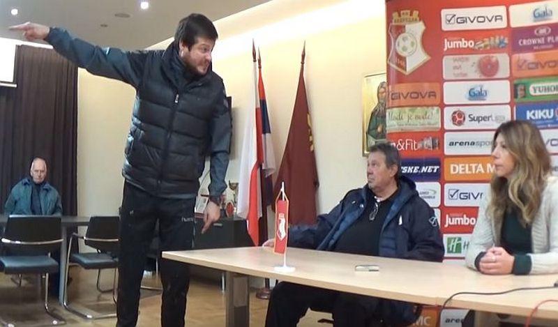 (VIDEO) Prostakluk posle utakmice Napretka i Radničkog, Lalatović besneo i vređao