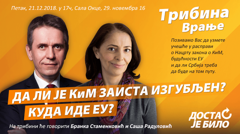 Saša Radulović danas u Vranju