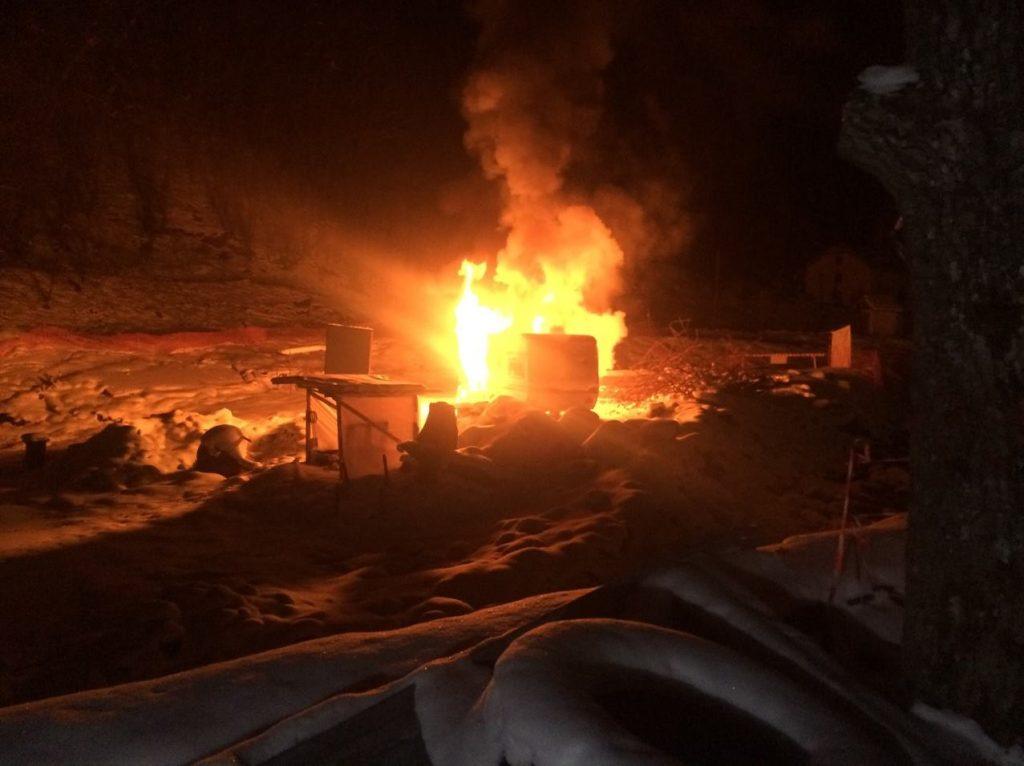Požar na gradilištu mini-hidroelektrane u Rakiti