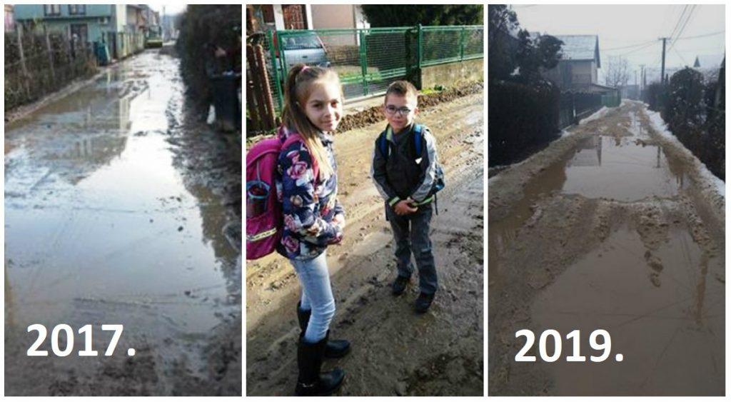 I dve godine kasnije se ništa nije promenilo, blato je tamo gde je i bilo