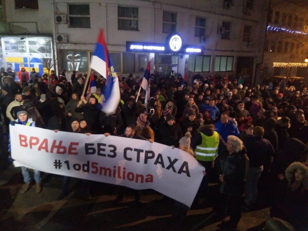 Počeli protesti VRANJE BEZ STRAHA (FOTO,VIDEO)