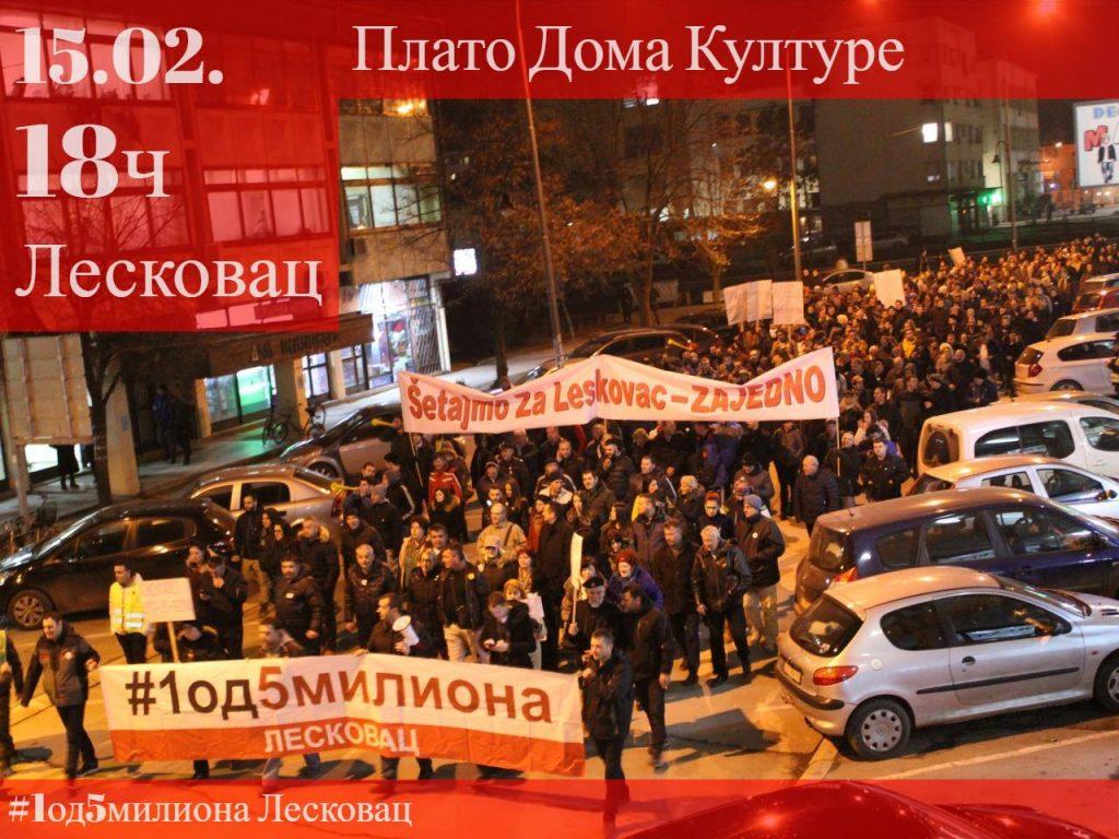 Demonstranti traže smenu direktora leskovačke bolnice i Doma zdravlja
