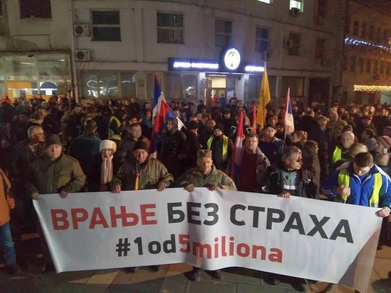 Počeli drugi protesti u Vranju, u prvim redovima penzioneri (VIDEO)