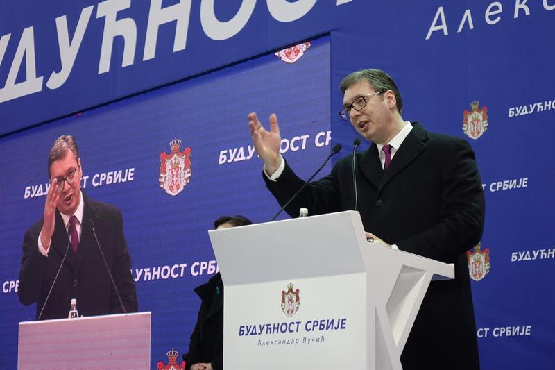 Vučić: Biće me sramota ako 19. aprila ne okupim samo 7.500 ljudi iz Vranja i Leskovca