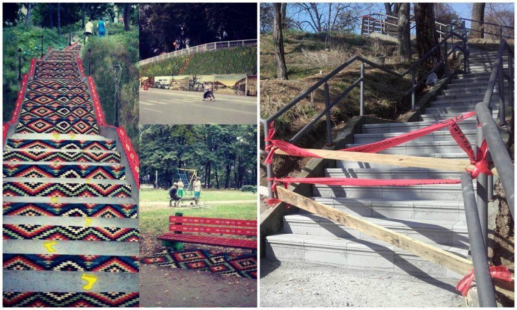 Građani se nude punih pet godina da srede i oslikaju park Devet Jugovića, a oni se odlučili za behaton ploče