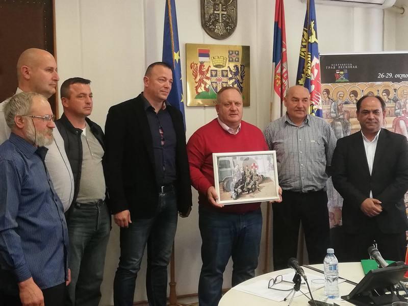 Leskovački ratni veterani kod gradonačelnika