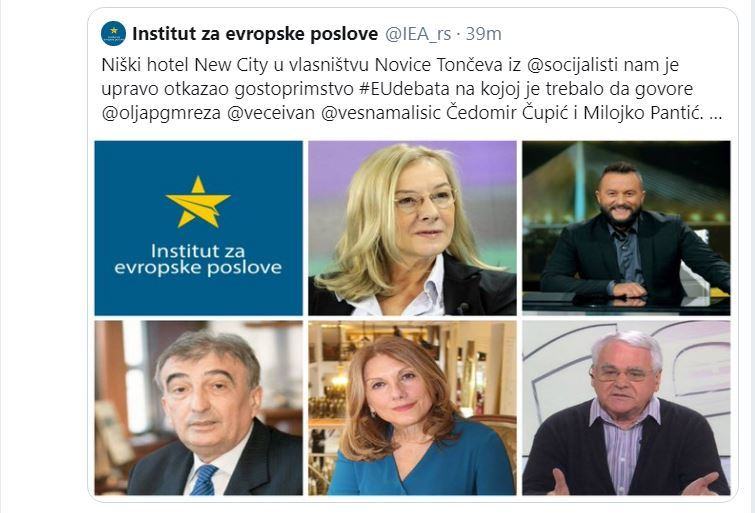 U Nišu otkazan prostor za debatu na kojoj je trebalo da govore Olja Bećković, Ivan Ivanović, Milojko Pantić…