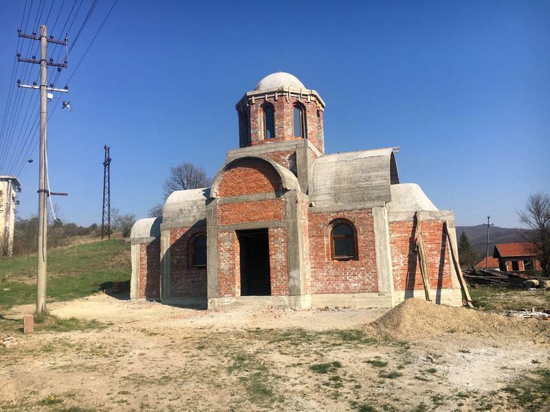 Izgradnja ckrve Svetog Pantelejmona u Gazdaru uskoro gotova