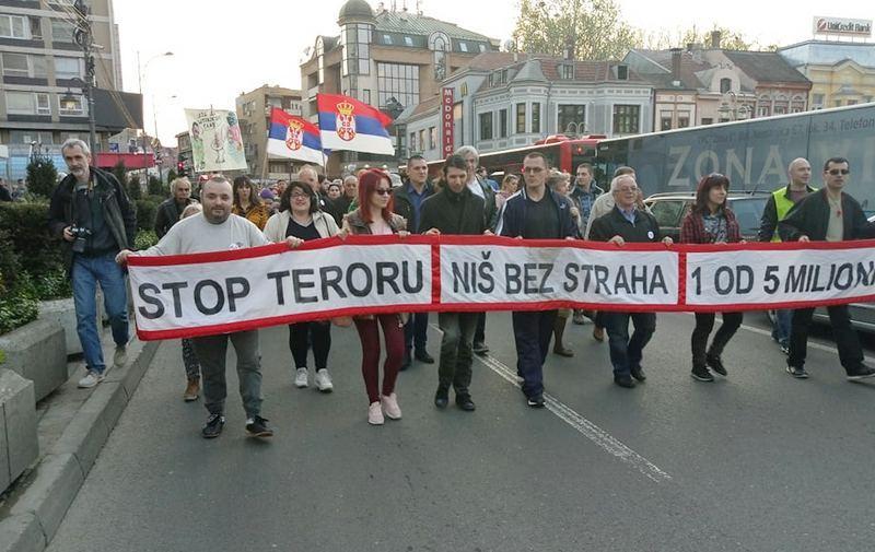 Protesti protiv vlasti održani samo u Nišu