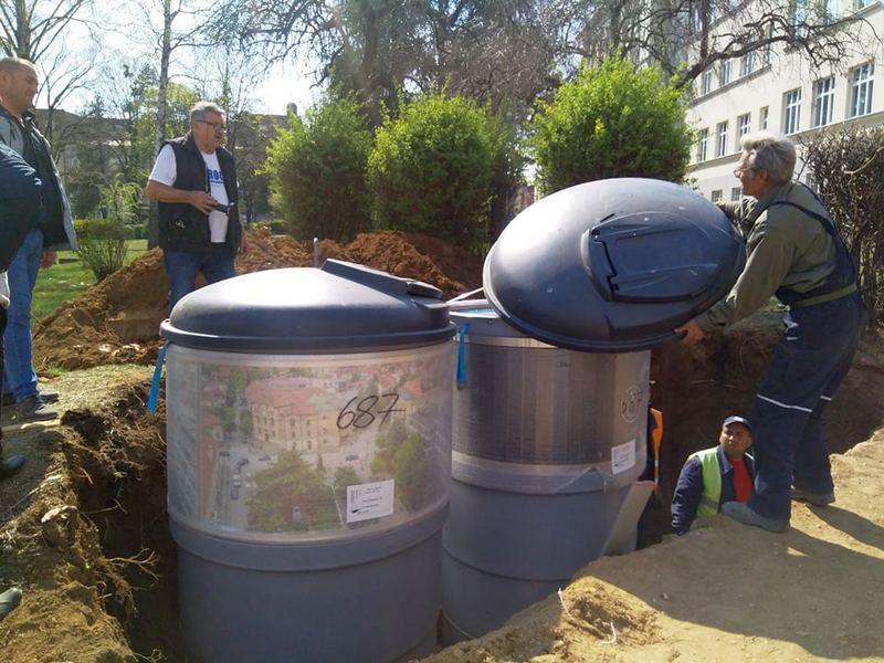 Počela montaža podzemnih kontejnera u Vranju