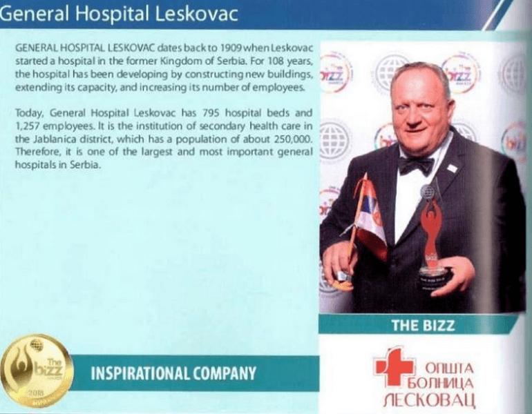 Gradonačelniku Leskovca priznanja za uspešnog lidera i poslovno rukovodstvo