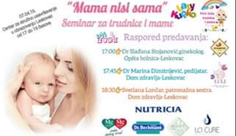 Besplatno savetovanje za trudnice i mame sutra u Leskovcu