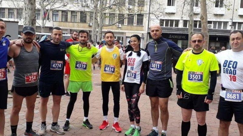 """Vranjski maratonci učesnici ,,Trke dobrote"""" Beogradskog maratona"""