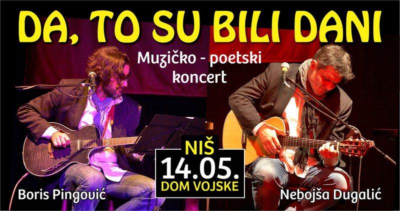 KAD GLUMCI ZAPEVAJU Koncert Dugalića i Pingovića u Nišu