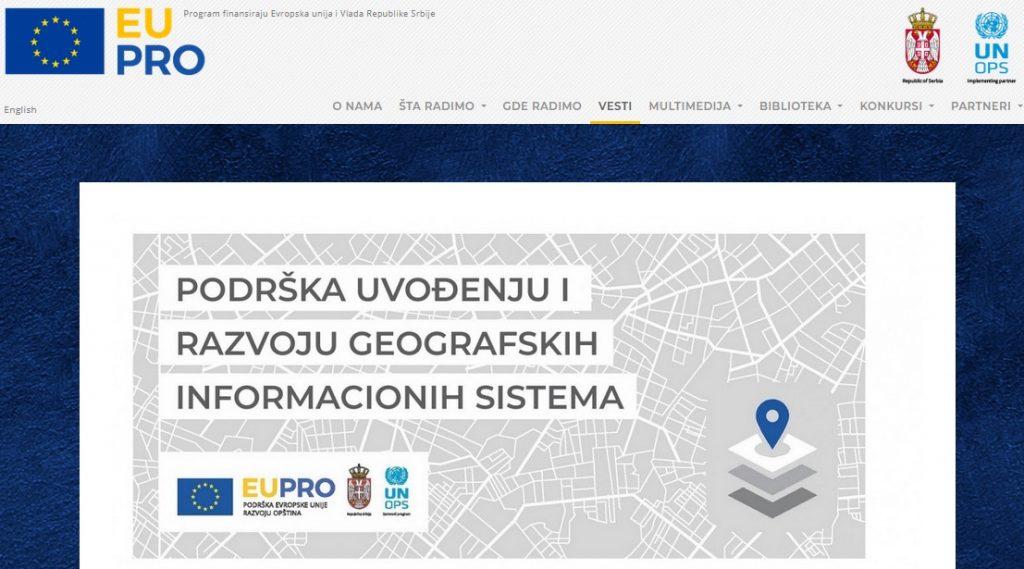 Geografski informacioni sistem stiže i u Vranje