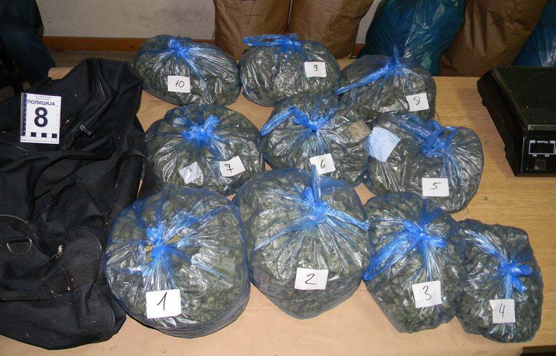 Na jednom mestu zaplenjeno 45 kilograma marihuane