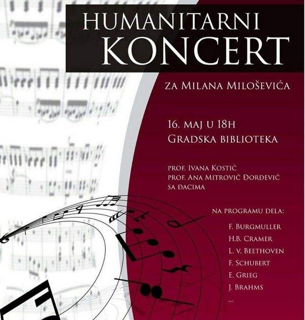Koncert za Milana sutra u leskovačkoj biblioteci