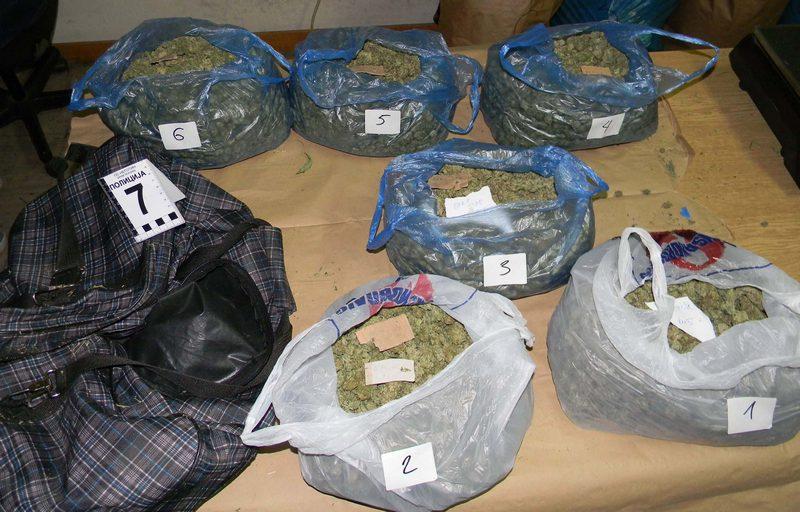 Uhapšeni sa 28 kilograma marihuane