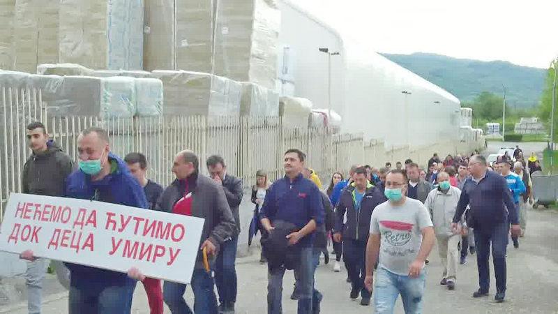 U Surdulici protesti protiv Knaufa