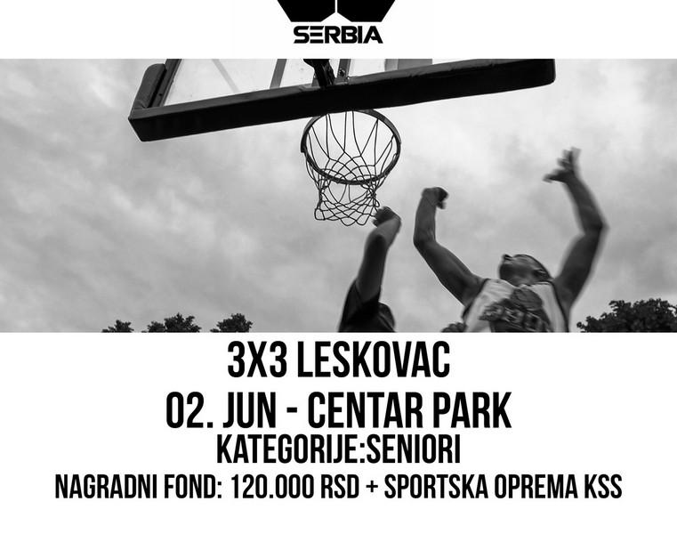 Basket na otvorenom u nedelju u Leskovcu