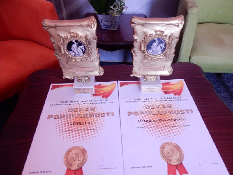 """JUGMEDII """"Oskar popularnosti"""" kao ubedljivo najčitanijem portalu u Leskovcu (spisak nagrađenih)"""