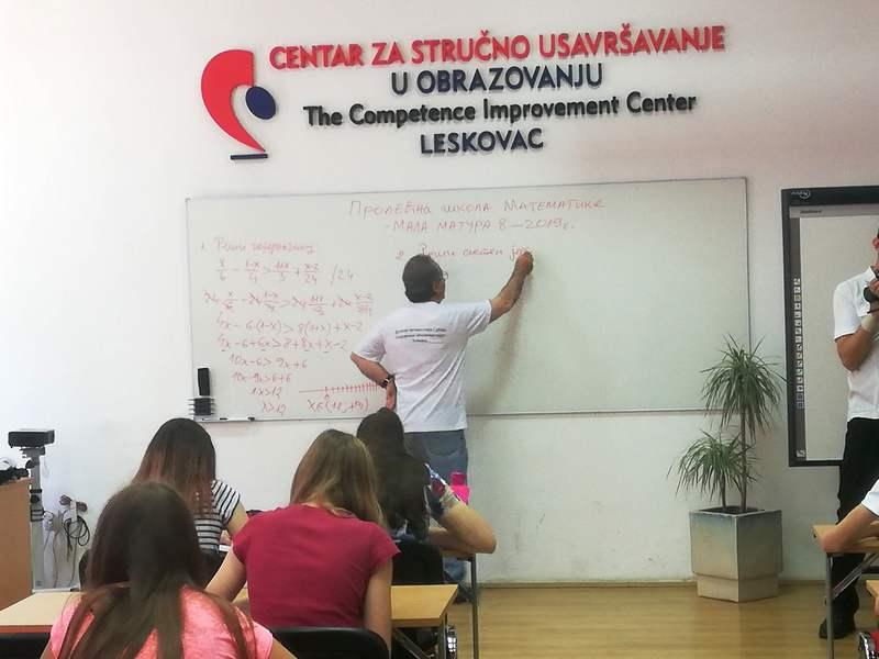 Leskovački osmaci spremni za završni ispit iz matematike