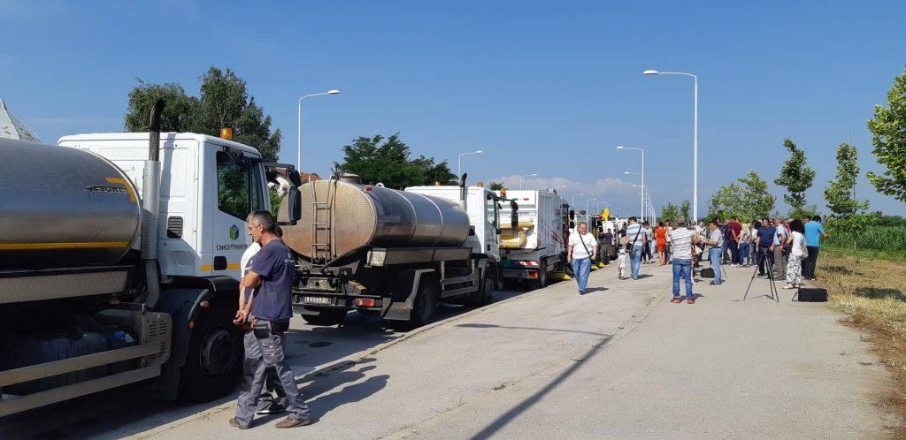 Revija komunalnih vozila i mašina na zaobilaznici oko Leskovca