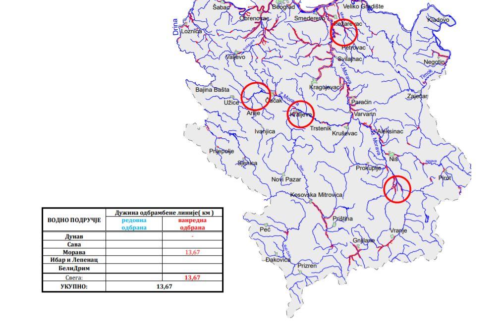 Na brani Barje već mesecima na snazi vanredna odbrana od poplava, ugrožen i Leskovac, nadležni isključili telefone