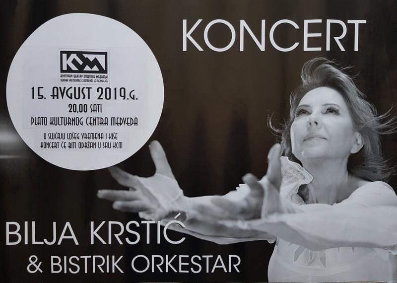 """Bilja Krstić i """"Bistrik"""" u četvrtak u Medveđi"""