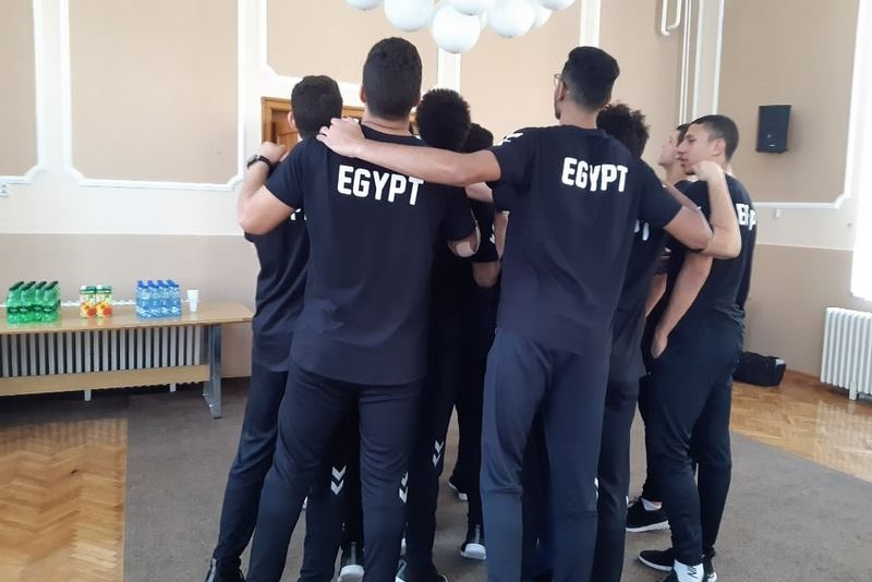 Mladi rukometni reprezentativci Srbije i Egipta gosti Leskovca pred odlazak na svetsko prvenstvo