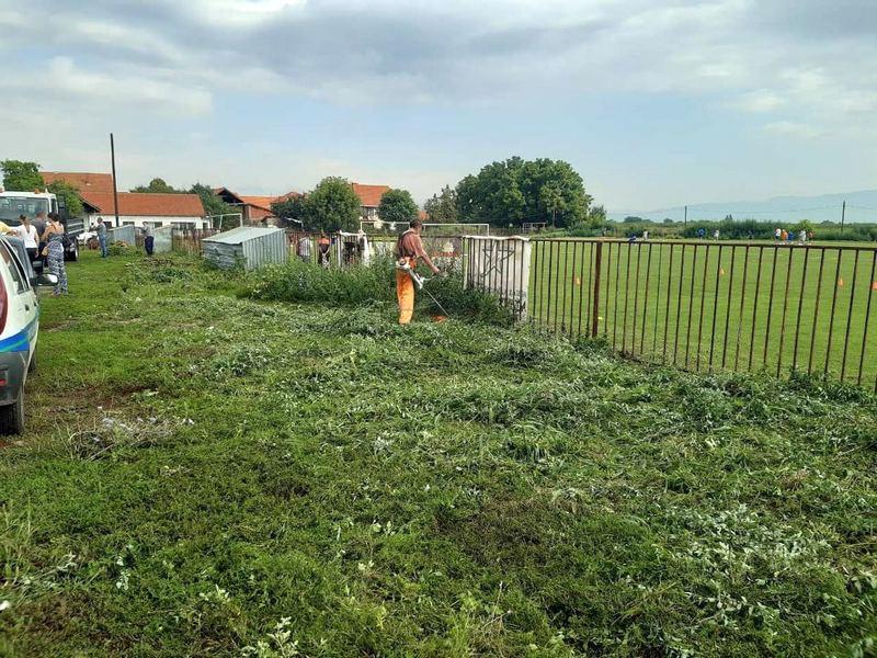 Očišćeno fudbalsko igralište u naselju Čifluk Mira