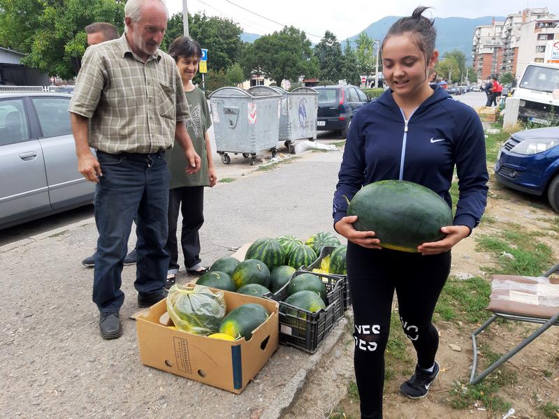 Najslađa mramorka lubenica kod deda Slobodana