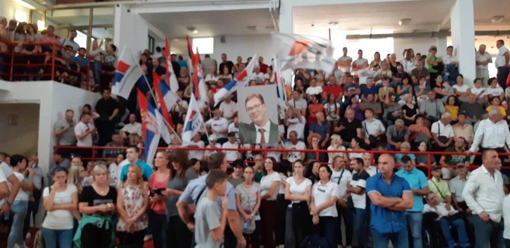 Ceo jug Srbije se sjatio u Medveđu na Vučićev predizborni miting