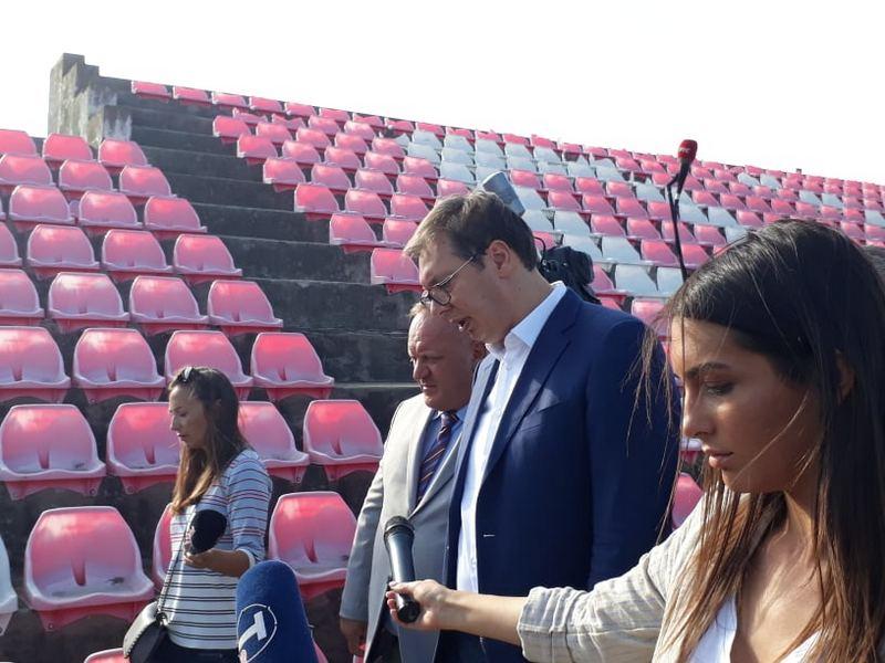 Vučić obećao novi stadion u Leskovcu do kraja 2021. (FOTO, VIDEO)