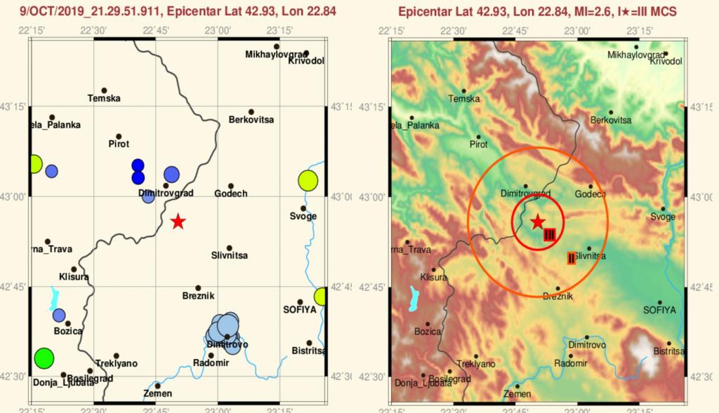 Slab zemljotres zabeležen u Dimitrovgradu