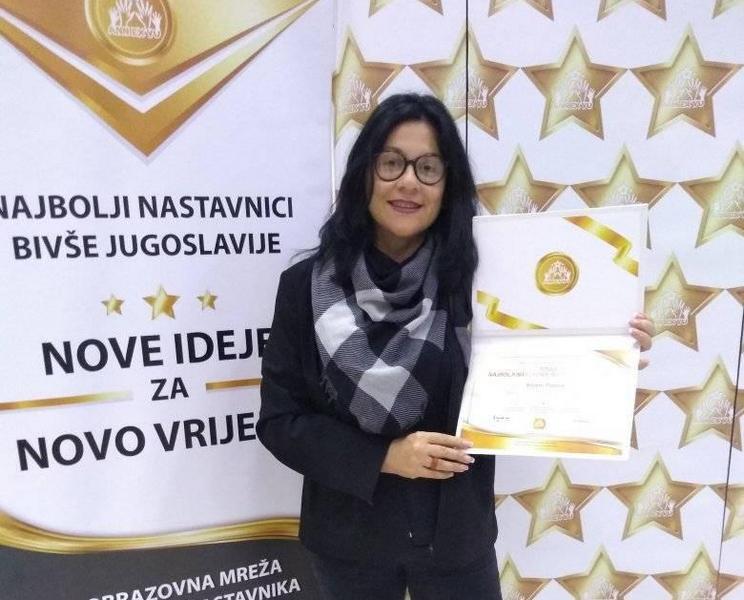 Biljana Pipović među 45 najboljih profesora u bivšoj Jugoslaviji