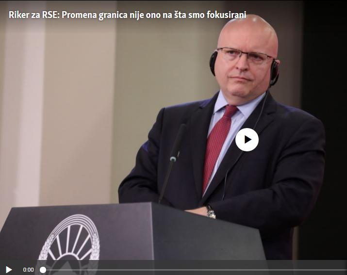 Riker: Nismo fokusarni na promene granica između Kosova i Srbije