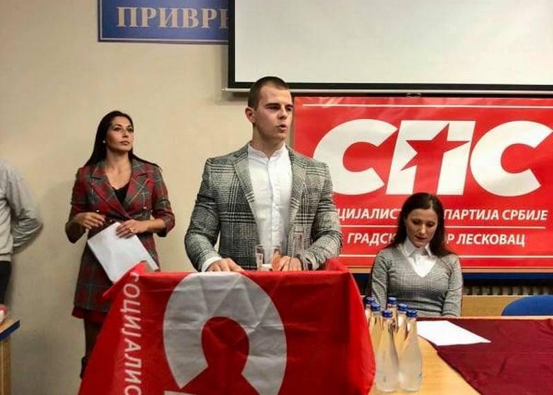 Stefan Zlatković, novi predsednik mladih socijalista u Leskovcu