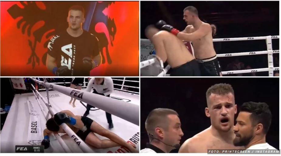 """Leskovčki bokser """"naučio pameti"""" Albanca koji ga je provocirao Kosovom u ringu (VIDEO)"""