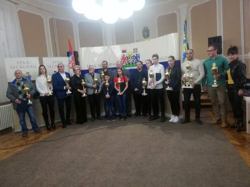 Nagrađeni najbolji sportisti grada Leskovca za 2019. godinu