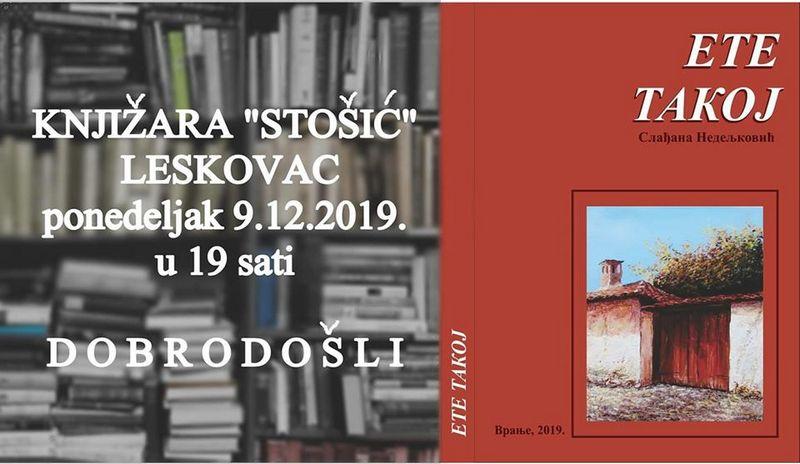 """Predstavljanje zbornika dijalekatske poezije  """"ETE TAKOJ"""" u ponedeljak u Leskovcu"""